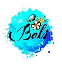 Welcome to bali concept in vintage graphic style vector