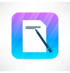 writing icon vector image vector image