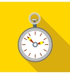 Pocket watch icon flat style vector