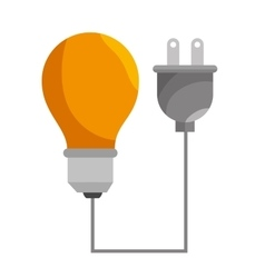 Bulb efficiency isolated icon design vector