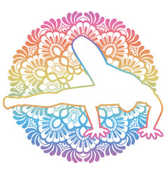 women silhouette dragonfly yoga pose vector image