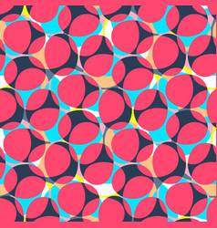 Abstract seamless pattern oval shapes motif vector