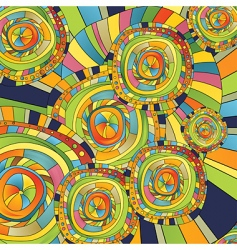 circles and slips vector image