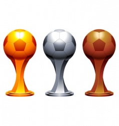 Soccer trophy cups vector