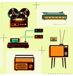 Retro technology vector