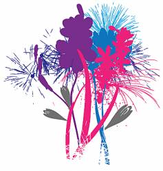 Flowers like fireworks vector