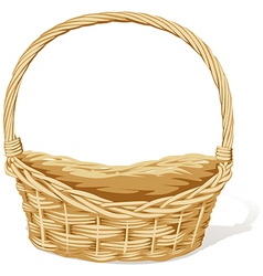 empty basket vector image