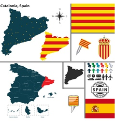 Map of catalonia vector