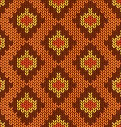 Snake knitted seamless pattern vector image