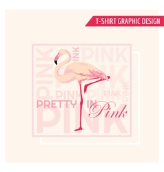 Tropical flamingo graphic design - for t-shirt vector