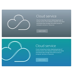 Cloud service concept web banner and promotion vector