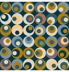 Retro circle seamles pattern vector