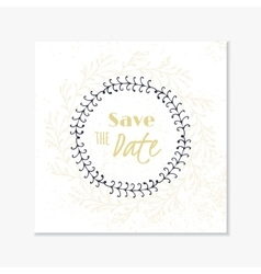 Wedding invitation card template with hand drawn vector