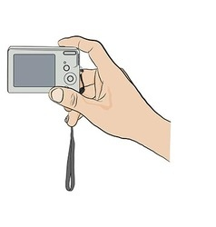 Hand with camera vector