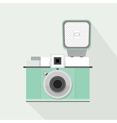 Plastic camera icon vector