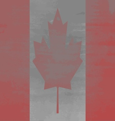 Shabby flag of canada vector