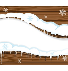 Snowing billboard vector image