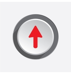 Pointer icon move cursor sign guide symbol red vector