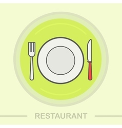 Restaurant color icon vector