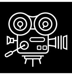 Old film camera vector