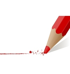 Red pencil with a broken rod vector