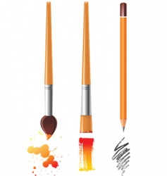 art tools vector image vector image