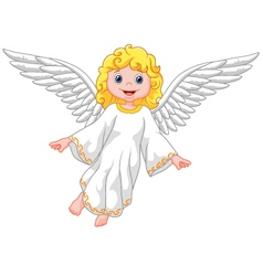 Cartoon angel isolated on white background vector