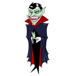 Cartoon image of grinning vampire vector