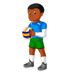 cartoon male volleyball player vector image