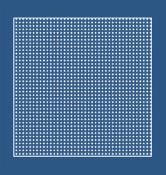 Checkered blue fabric with white circles and a vector