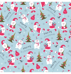 Christmas seamless 2 vector image