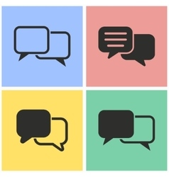 Communication bubble icon set vector image vector image