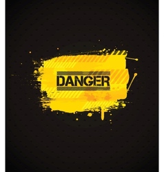 Danger banner vector