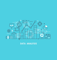 data analysis thin line vector image vector image