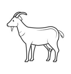 goat animal farm icon vector image