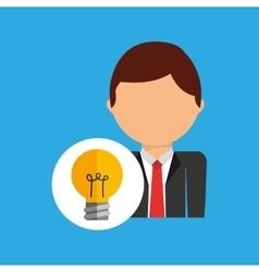 Idea business man suit worker icon vector