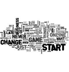 It s never too late to start text background word vector