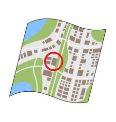 location on the maprealtor single icon in cartoon vector image