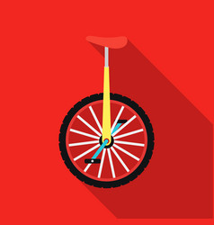 monocycle icon in flat style isolated on white vector image vector image
