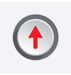 Pointer icon Move cursor sign guide symbol Red vector image