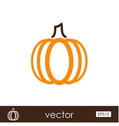 pumpkin outline icon vegetable vector image vector image