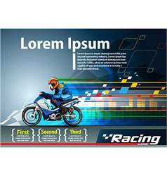 Racing poster template vector