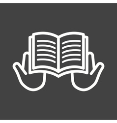 Reading Holy Book vector image
