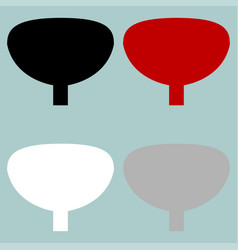 Red black grey white urinary bladder icon vector
