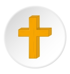 Religion cross icon cartoon style vector
