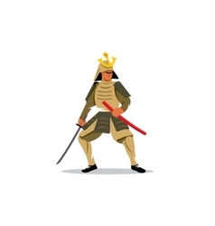 Samurai Warrior With Katana Sword sign vector image vector image
