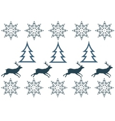 Seamless pattern with winter sweater design - deer vector image vector image