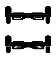 Self balancing hover board black symbol vector