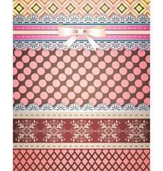 Set of patterns and borders for scrapbooking All vector image