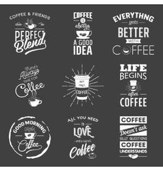 Set of vintage wine typographic quotes Grunge vector image